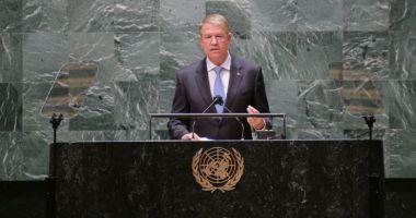 Klaus Iohannis, la Adunarea Generală a ONU: România se implică și ia măsuri. Împreună putem opri schimbările climatice