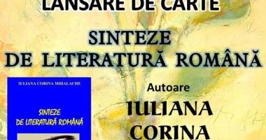 """Lansare de carte la Mangalia - """"Sinteze de literatură română"""""""
