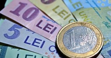 Euro pierde 0,05% în lupta cu leul