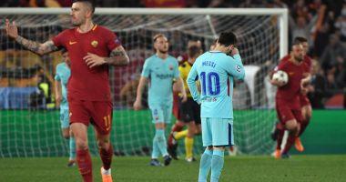 Bomba anului în fotbal. Barcelona, surclasată la Roma şi eliminată din Liga Campionilor