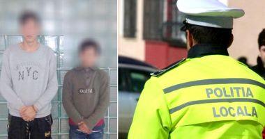 VIDEO / Tâlhari prinşi de poliţiştii locali