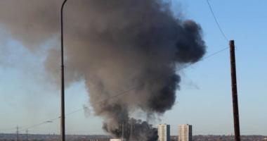 Panică la Londra! Incendiu și un nor uriaș de fum deasupra metropolei