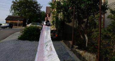 DE LĂUDAT! Femeia care a stat trei ani să coasă tot Luceafărul pe o pânză uriaşă