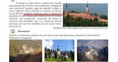 FOTO. Greşeli şi în manualul de Limba şi literatura română de clasa a VI-a
