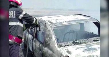 Bărbat reţinut pentru că ar fi incendiat două autoturisme, în municipiul Constanţa
