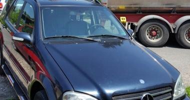 Ţeapă cu Mercedes ML înmatriculat în Bulgaria