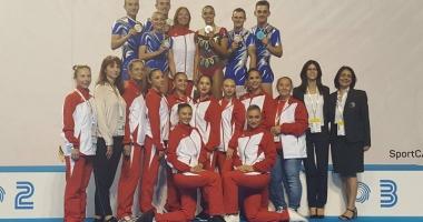 """Medalii europene pentru """"aerobicii"""" de la CS Farul"""