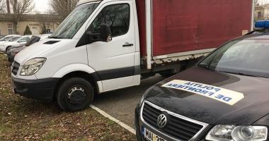 Autoutilitară Mercedes furată din Italia, descoperită la Constanţa
