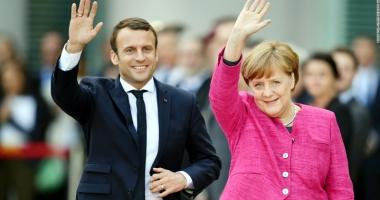 Merkel şi Macron, dispuşi să schimbe tratatele  ca parte a modernizării Uniunii Europene
