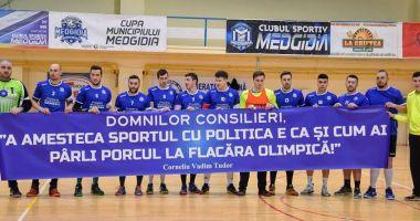 Sport, nu politică! Mesaj inedit afişat de handbaliştii de la CS Medgidia