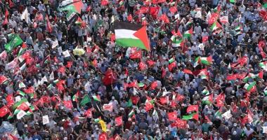 Mii de persoane  au manifestat,  la Istanbul, împotriva  deciziei SUA  privind Ierusalimul