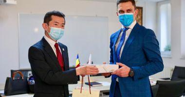 Ministrul Tineretului şi Sportului s-a întâlnit cu ambasadorul Japoniei