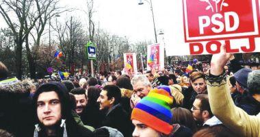 Mitingul PSD / Sute de mii de membri de partid, aduşi la Bucureşti
