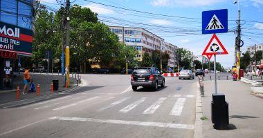 Modificări în trafic. Se mută trecerea de pietoni de pe strada Adamclisi
