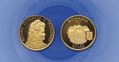 """Avem o monedă din aur cu tema """"Istoria aurului – Coroana reginei Elisabeta a României"""""""