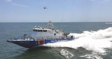 Polițiștii de frontieră în misiune. Monitorizare nave, controale şi exerciţii maritime la Marea Neagră