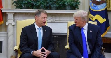 Preşedintele Klaus Iohannis, primit la Casa Albă de Donald Trump