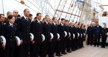 """Nava Şcoală """"Mircea"""" pleacă în marşul anual  de instrucţie"""