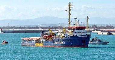 Nava Sea-Watch 3, blocată în Sicilia de către paza de coastă