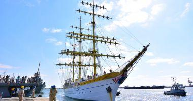 """MOMENT ISTORIC! Escala navei-școală """"Mircea"""" în Portugalia"""