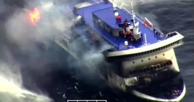 Feribotul incendiat / Patru cadavre au fost recuperate. Toţi pasagerii au fost evacuaţi / Galerie foto