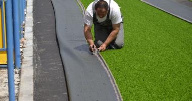 Primăria Năvodari demarează construcția  unui teren de sport omologat cu gazon artificial