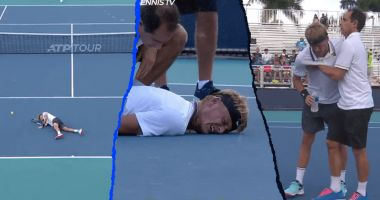 Imagini de coșmar la turneul de la Miami. Un tenisman s-a prăbușit pe teren