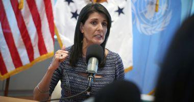 Ambasadoarea SUA la ONU, Nikki Haley, și-a dat demisia și urmează să părăsească postul la sfârșitul anului