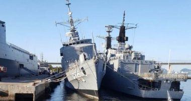 O fregată braziliană, în pericol de răsturnare