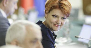 Foto : Lia Olguţa Vasilescu le dă o veste proastă celor cu pensii speciale: Ce vor primi polițiștii și militarii pensionați