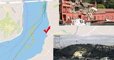 O navă a distrus o clădire istorică din Strâmtoarea Bosfor
