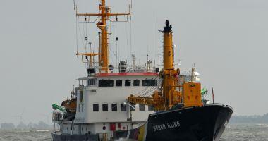O navă de servicii portuare a eșuat pe coasta Germaniei