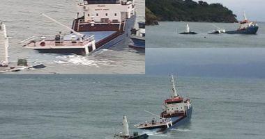 O navă încărcată cu pietriș s-a scufundat în Marea Marmara