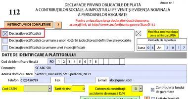 O nouă modificare a declarației privind contribuțiile și impozitul pe venit