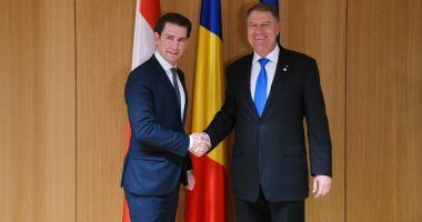 Cancelarul Austriei, vizită oficială în România