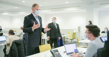 Klaus Iohannis a vizitat Call center-ul DSP Bucureşti