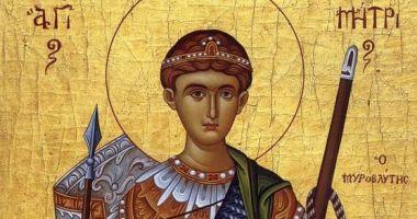 Ortodocșii îl cinstesc, sâmbătă, pe Sf. Mare Mucenic Dimitrie