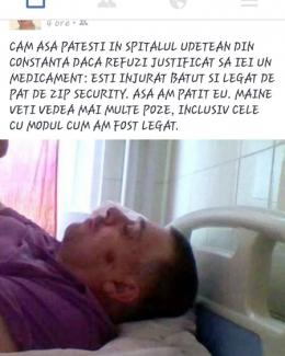 Clipe de groază pentru un pacient în Spitalul Judeţean.