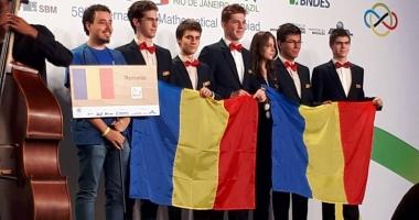 Palmares strălucitor al elevilor români la Olimpiada Internaţională de Matematică: trei medalii de argint, două de bronz şi o menţiune