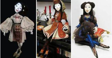 Păpuşi cu costume inspirate din portul tradiţional al etniilor dobrogene