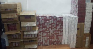 Peste 13.000 de pachete cu țigări de contrabandă descoperite de polițiștii de frontieră