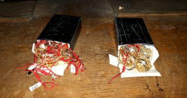 Bijuterii de aur, confiscate  de poliţiştii  de frontieră