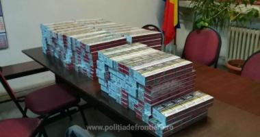 Peste o mie de pachete de ţigări, descoperite într-un autoturism