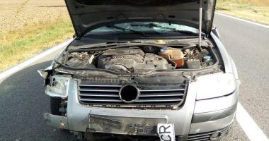 Accident rutier la Constanţa, între o maşină şi o căruţă