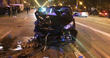 Foto : GALERIE FOTO / Accident rutier grav în stațiunea Mamaia. Trei mașini avariate și 4 victime