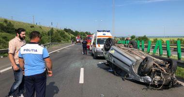 Trafic blocat pe Autostrada Soarelui. O persoană a murit într-un accident teribil