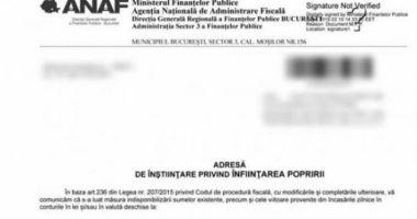 ANAF trimite un plic cu înştiinţare de poprire pentru suma de 1 leu, deşi plicul costă mai mult