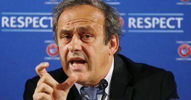 """Michel Platini, reţinut pentru audieri, în """"scandalul Qatar 2022"""""""