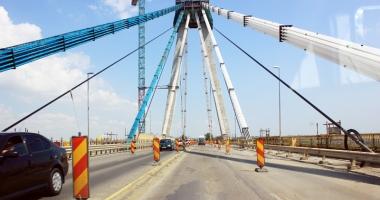 Pe 1 decembrie se va circula pe toate benzile Podului Agigea! Lucrările  vor continua şi la anul