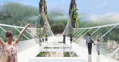 S-a deschis cel mai lung pod de sticlă, aflat la cea mai mare înălţime